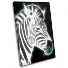 Zebra Illustration B & W Animals - 13-0218(00B)-SG32-PO